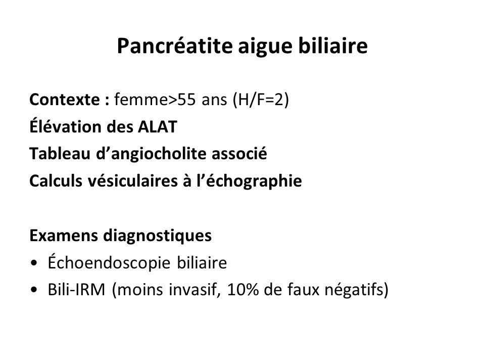 Pancréatite aigue biliaire