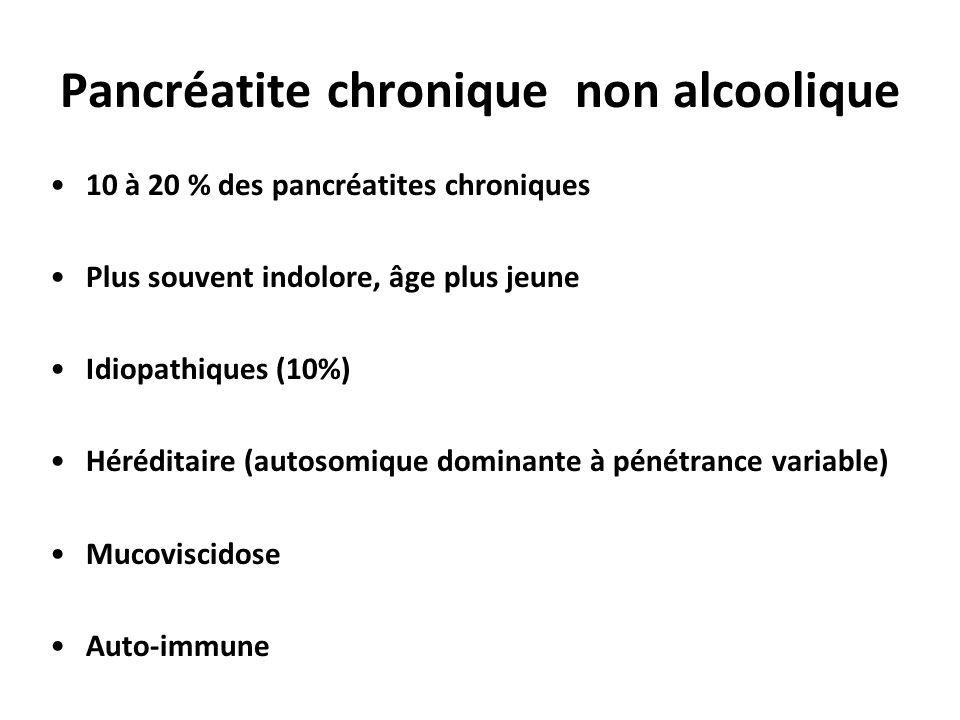 Pancréatite chronique non alcoolique