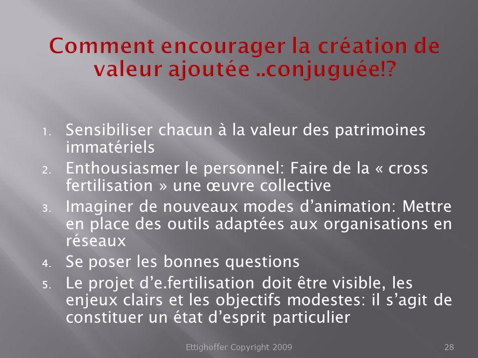 Comment encourager la création de valeur ajoutée ..conjuguée!