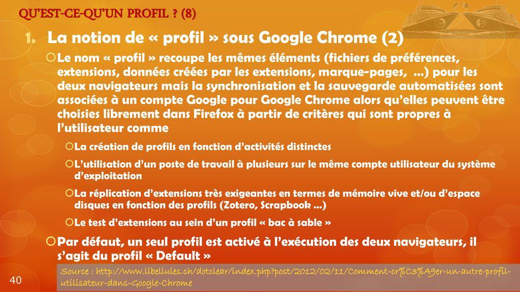 compte google chrome
