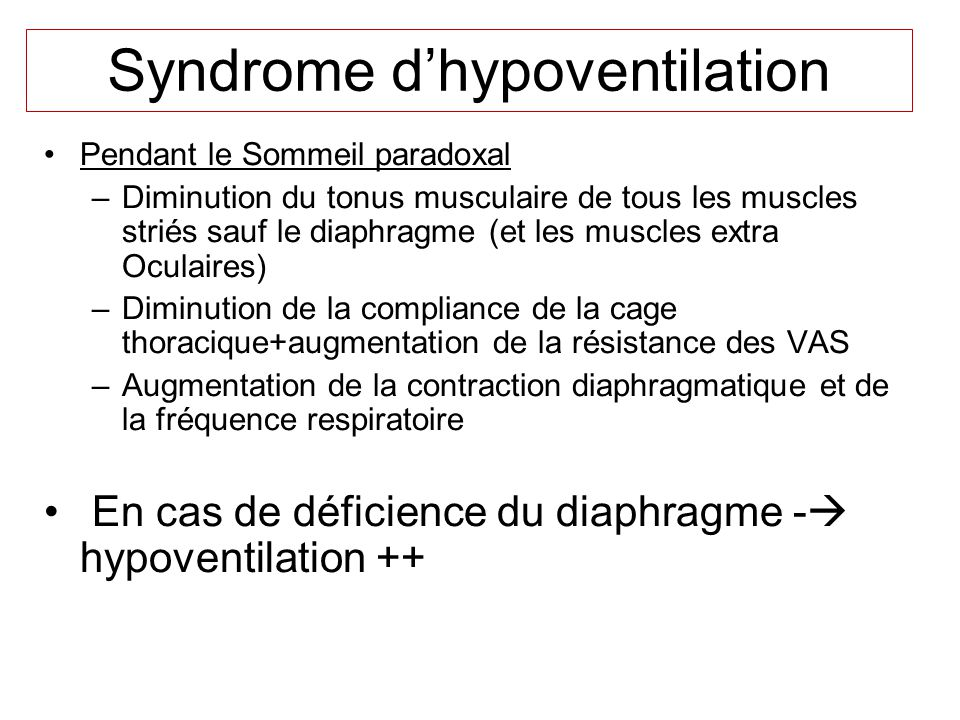 Syndrome d'hypoventilation