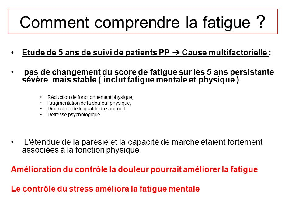 Comment comprendre la fatigue