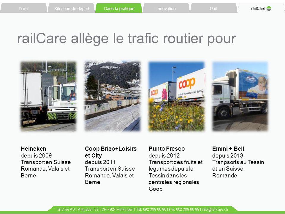 railCare allège le trafic routier pour