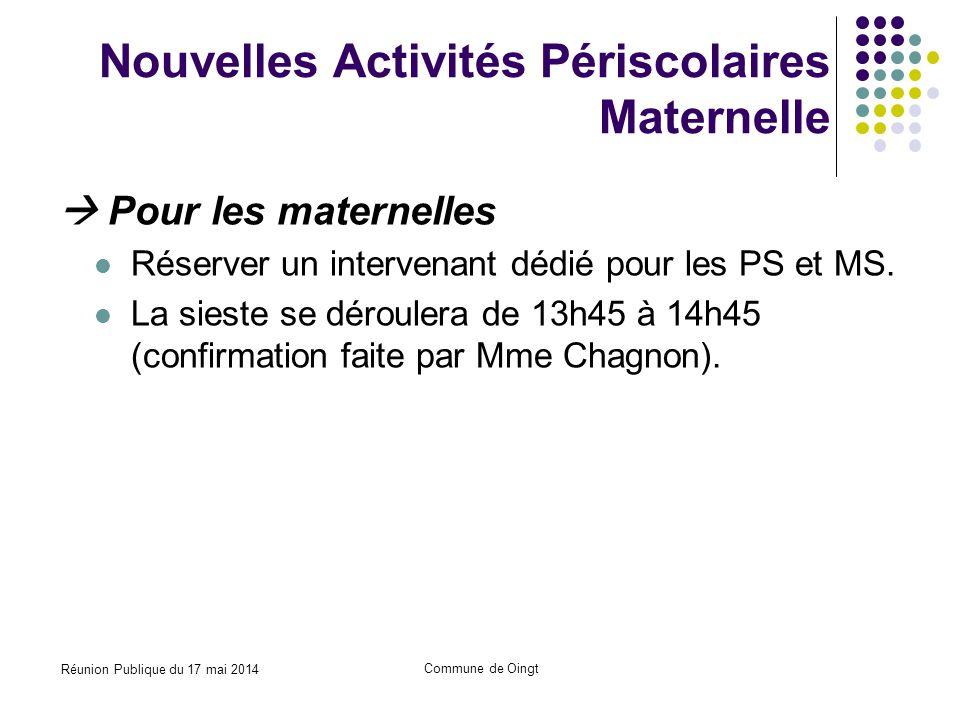 Nouvelles Activités Périscolaires Maternelle
