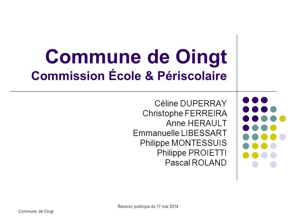 Commune de Oingt Commission École & Périscolaire