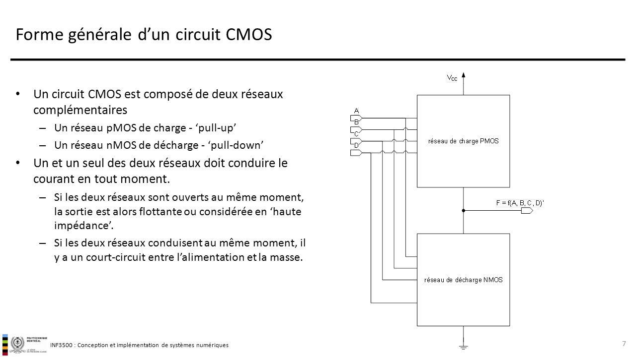 Circuits int gr s num riques quelques bases ppt video for Circuit logique cmos