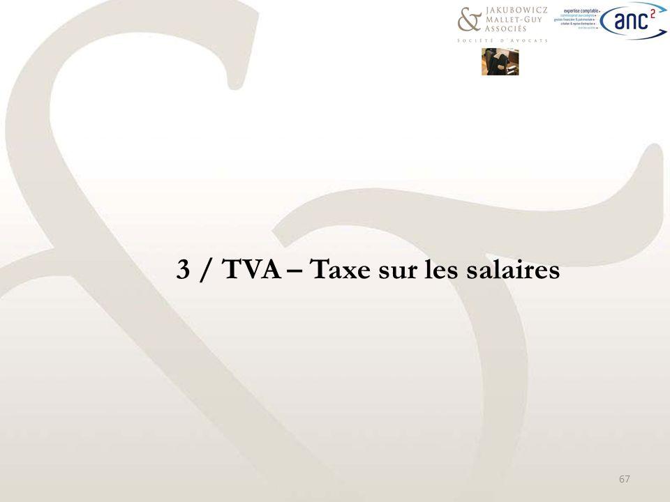 salaire taxe au quotient 3