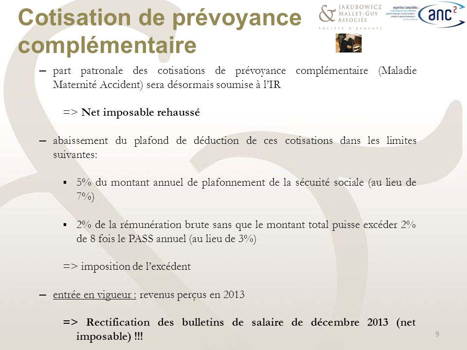 Loi de finances 2014 loi de finances rectificative pour - Salaire plafond de la securite sociale ...