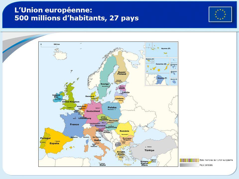 L union europ enne 500 millions d habitants 27 pays - La chambre des preteurs de l union europeenne ...