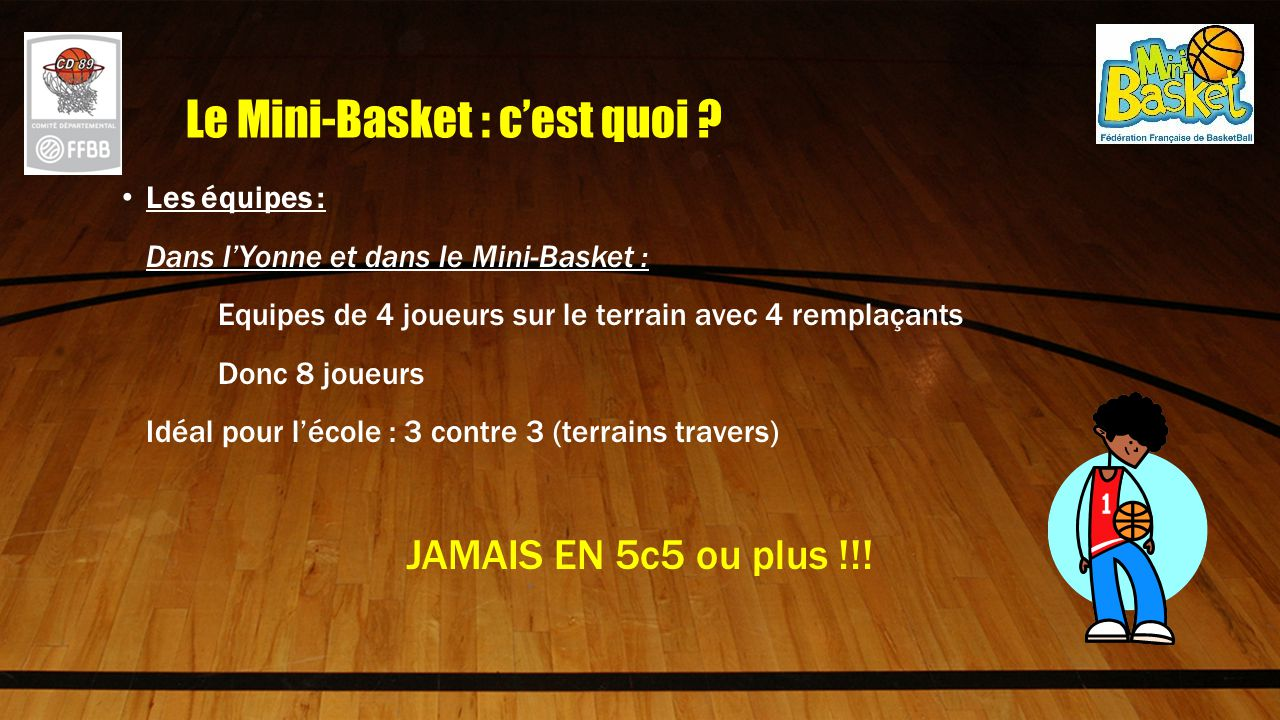 Le mini basket l cole ppt video online t l charger for Terrain avec cu c est quoi