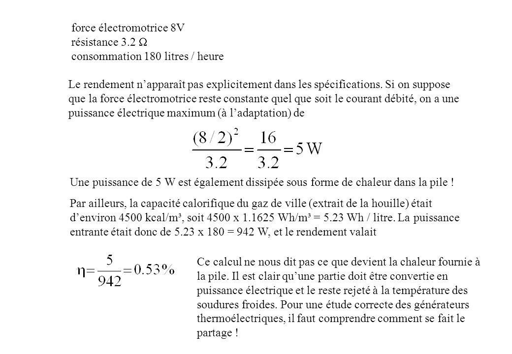 Elec 2670 convertisseurs thermo lectriques ppt video - Calcul puissance chambre froide ...