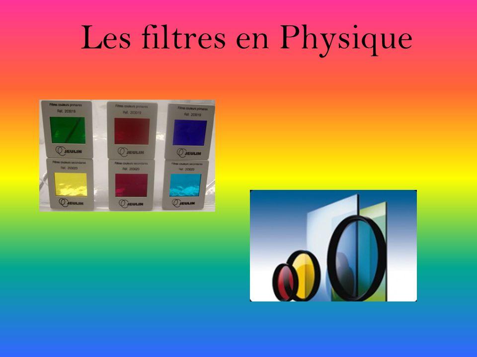 Les filtres en Physique