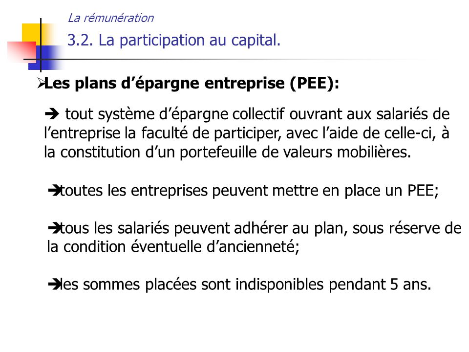 3.2. La participation au capital.