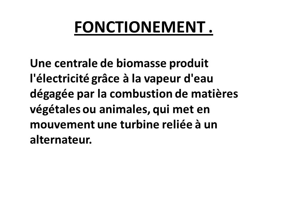 FONCTIONEMENT .
