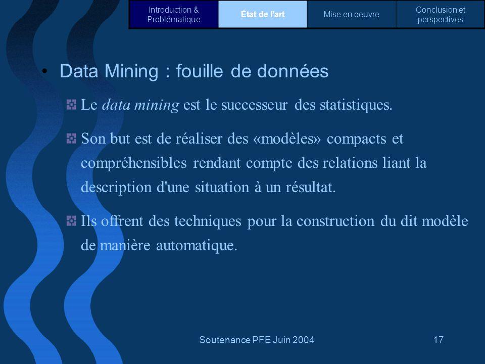 Data Mining : fouille de données