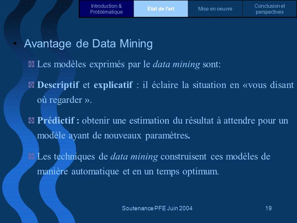 Avantage de Data Mining
