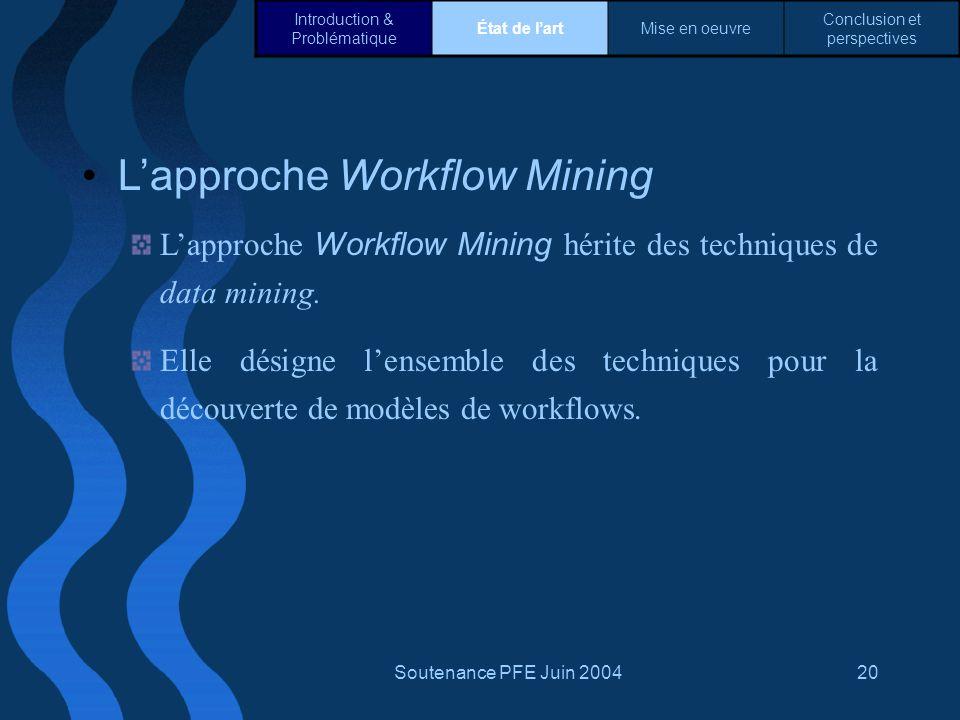 L'approche Workflow Mining