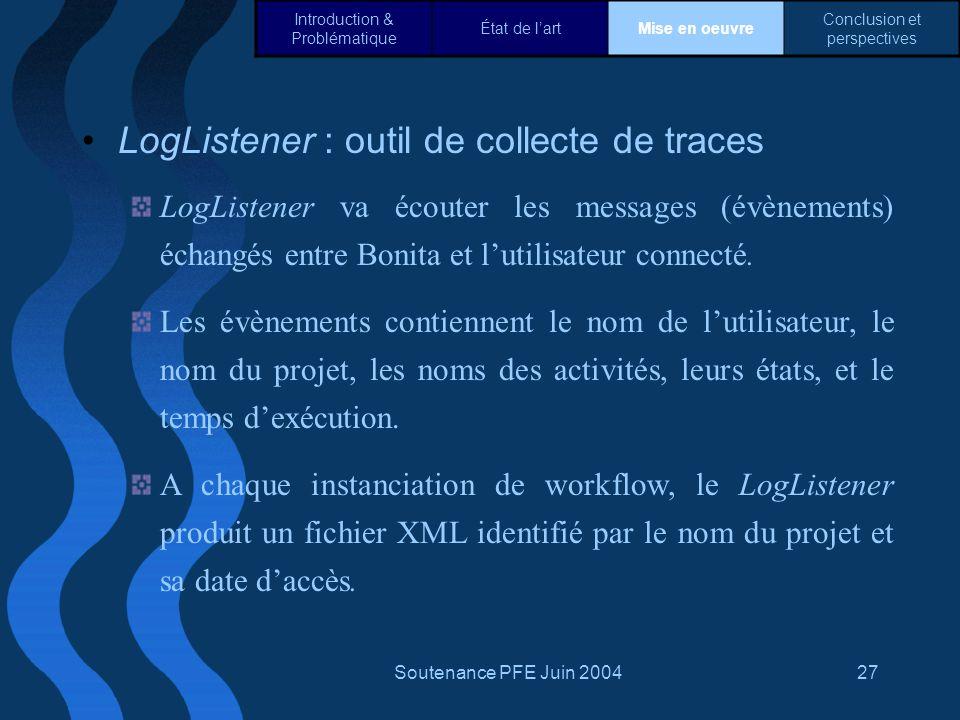 LogListener : outil de collecte de traces
