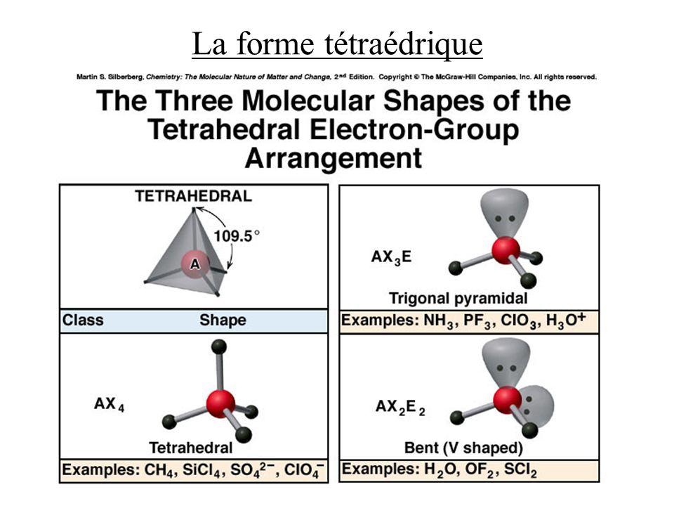 La forme tétraédrique