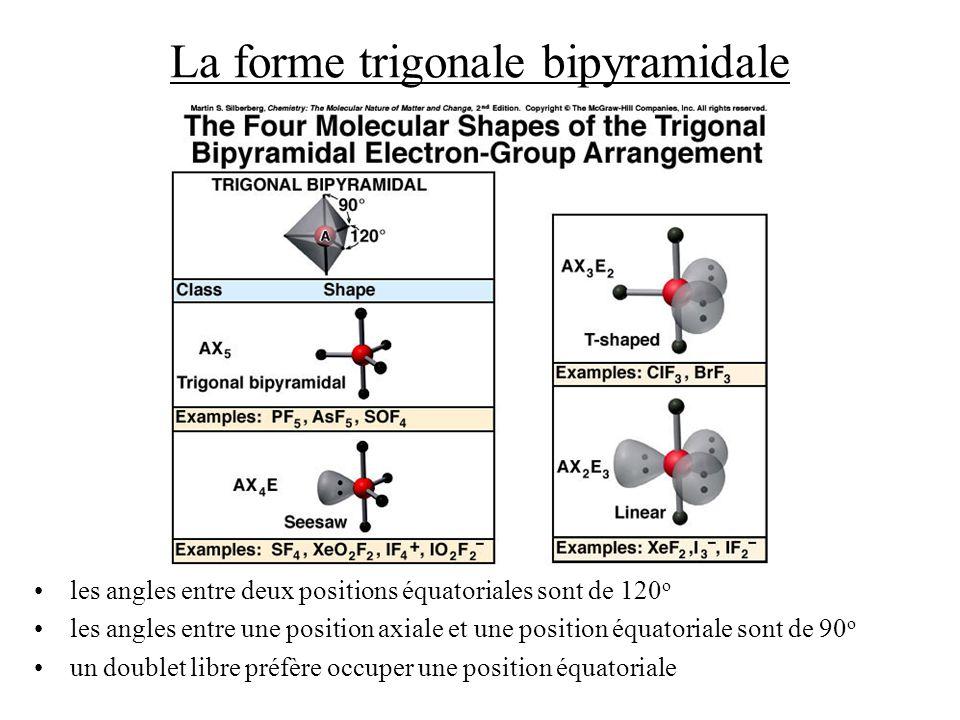 La forme trigonale bipyramidale