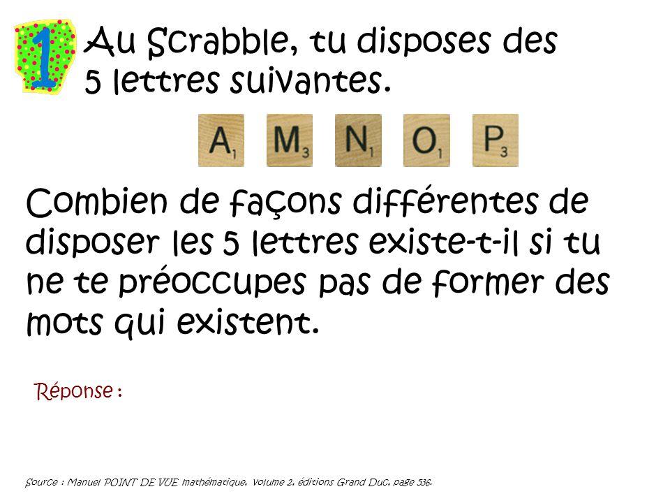 Au Scrabble Tu Disposes Des 5 Lettres Suivantes Ppt Video Online Telecharger