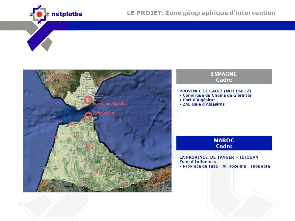 LE PROJET: Zone géographique d'intervention