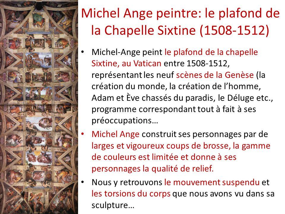 Souvenez vous la haute renaissance ppt t l charger - Michel ange le plafond de la chapelle sixtine ...
