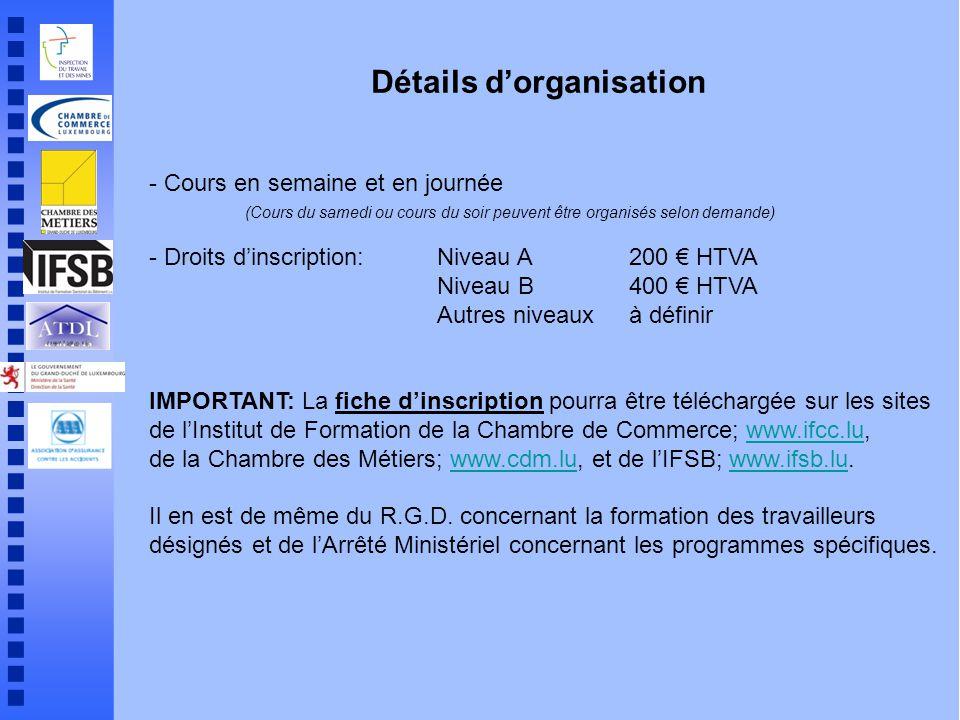 Formations pour travailleurs d sign s ppt t l charger for Chambre de commerce luxembourg cours du soir