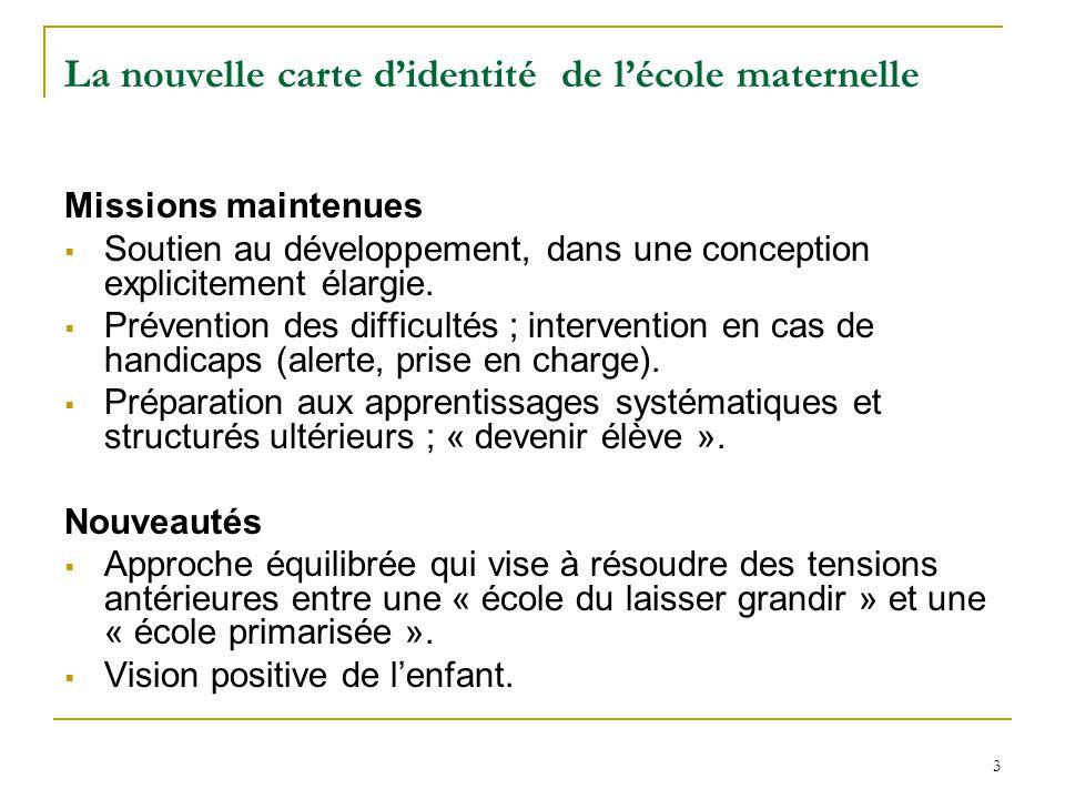 Top Nouveaux programmes pour l'école maternelle : points de vigilance  JM23