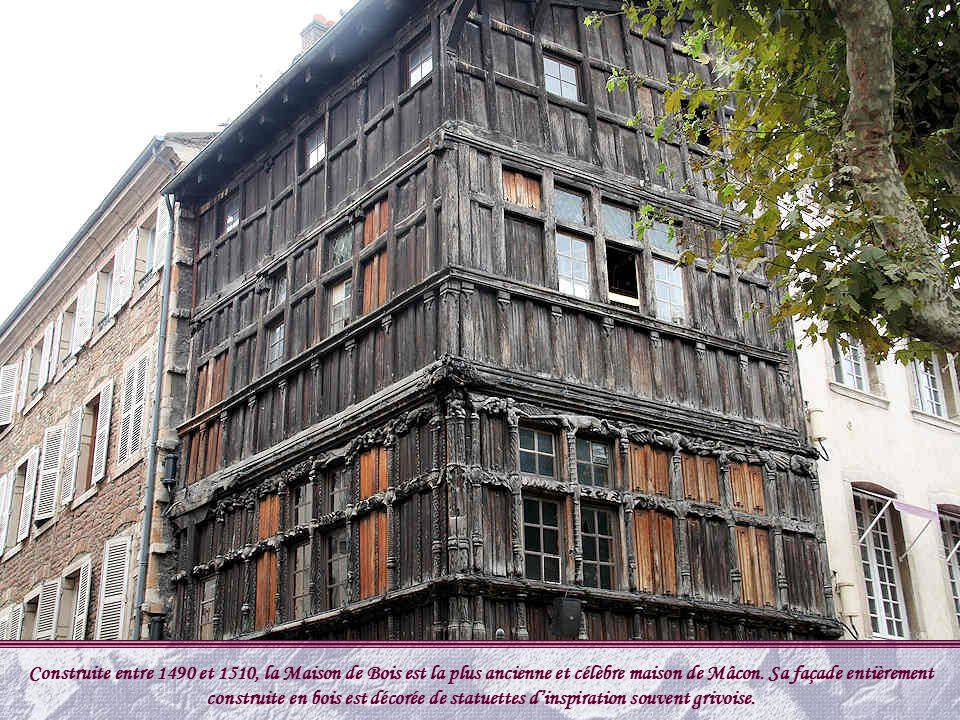 M con est une ville pr fecture du d partement de sa ne et - La maison de bois macon ...