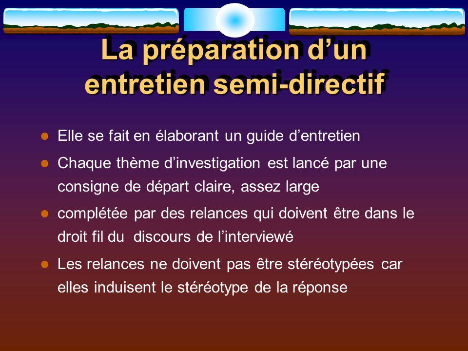L entretien d investigation semi directif ppt t l charger - Grille d entretien semi directif exemple ...