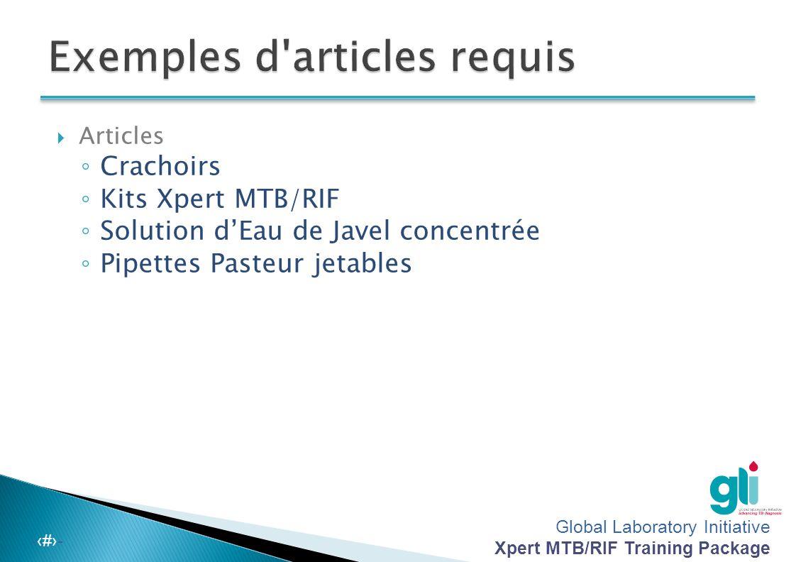 Module 4 approvisionnement et gestion des stocks de fournitures pour xpert mtb rif global - Eau de javel concentree ...