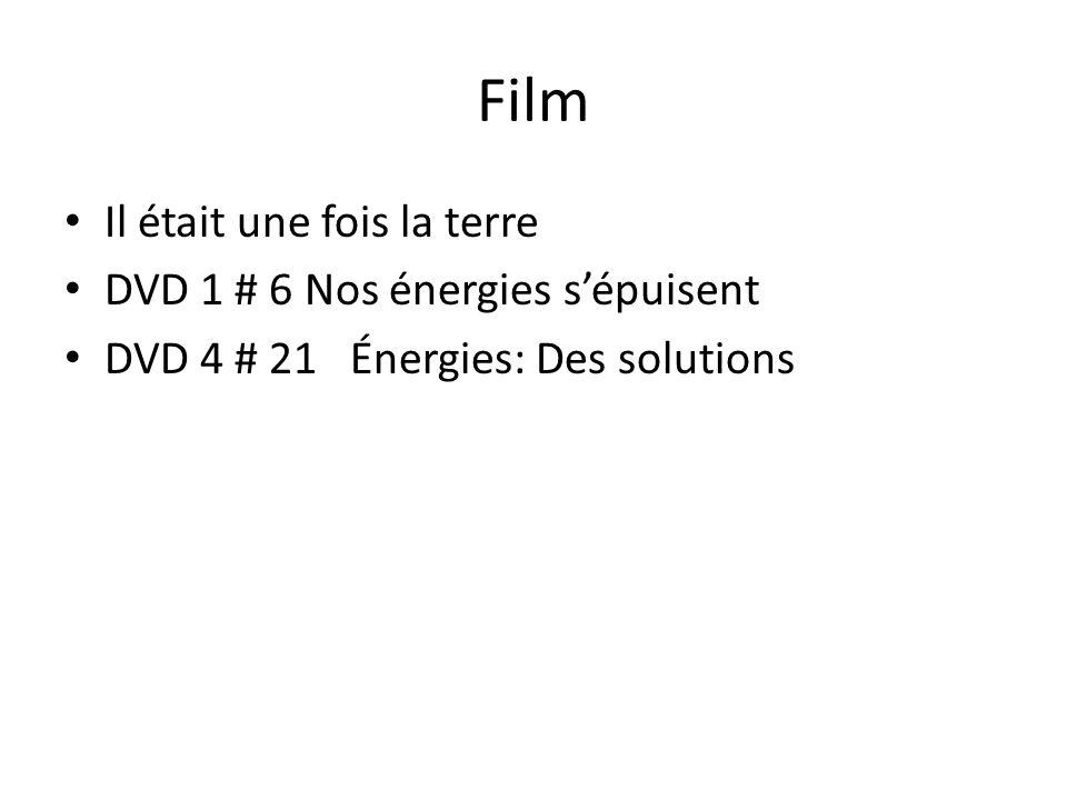 Film Il était une fois la terre DVD 1 # 6 Nos énergies s'épuisent