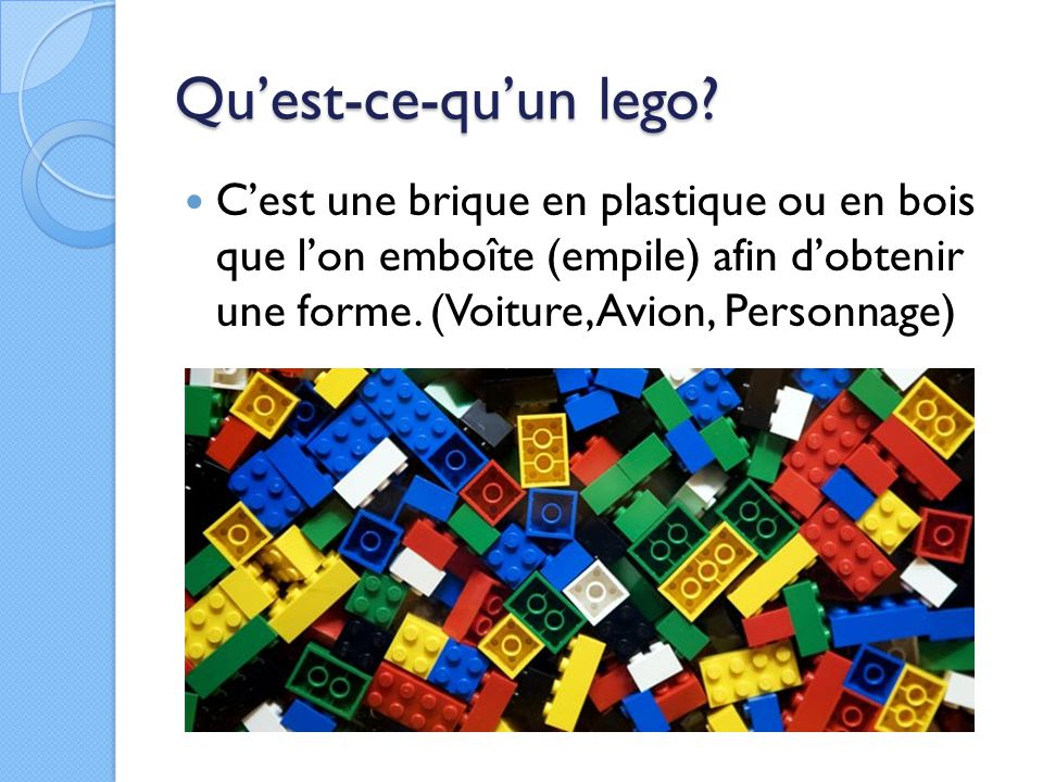 ma passion les legos techniques ppt video online t l charger. Black Bedroom Furniture Sets. Home Design Ideas