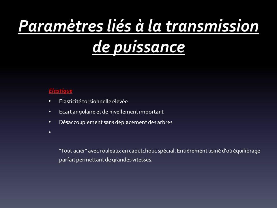 Paramètres liés à la transmission de puissance