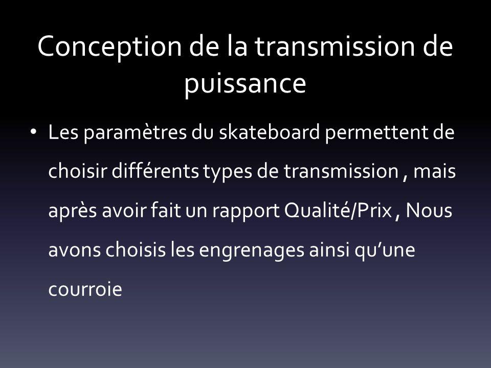 Conception de la transmission de puissance
