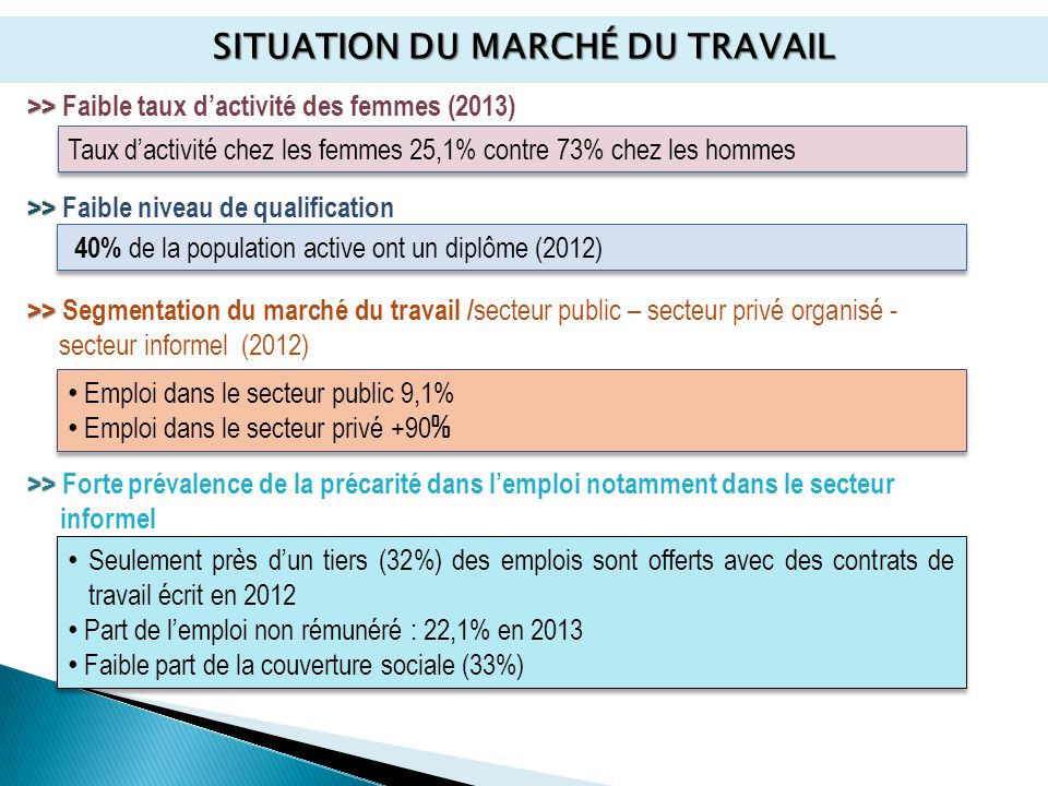 STRATÉGIE NATIONALE DE L'EMPLOI   ppt video online télécharger