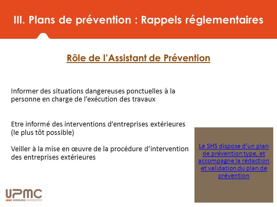 R union de r seau des assistants de pr vention de l upmc for Plan de prevention des risques entreprises exterieures