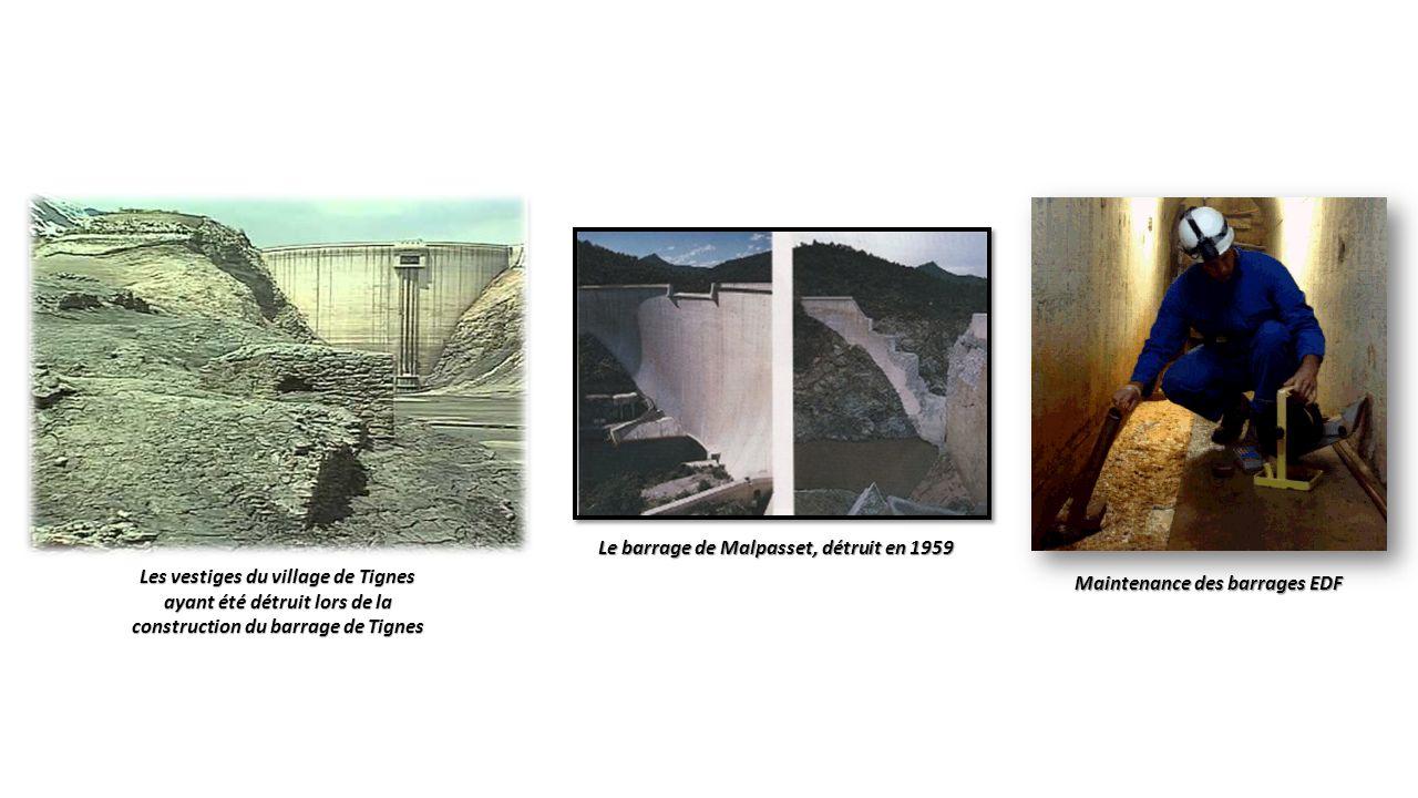 Le barrage de Malpasset, détruit en 1959 Maintenance des barrages EDF