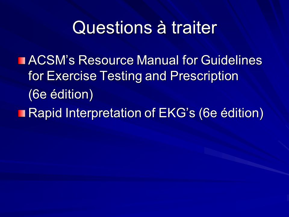 acsm resource manual for exercise testing and prescription