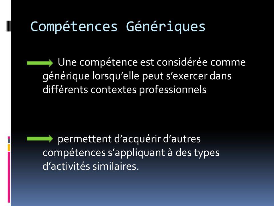 Compétences Génériques