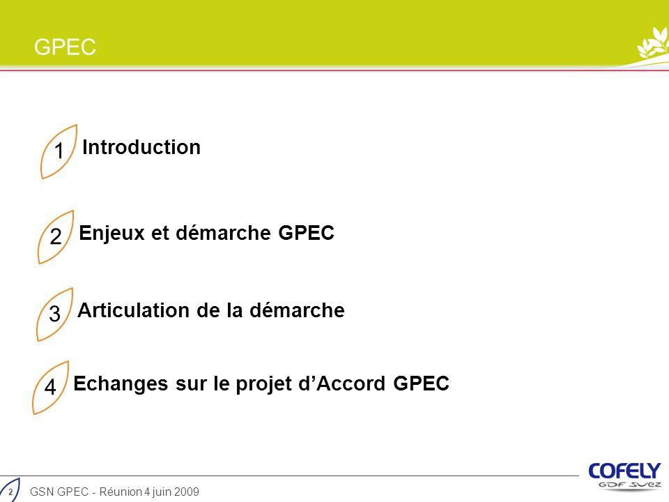 1 2 3 4 Introduction Enjeux et démarche GPEC