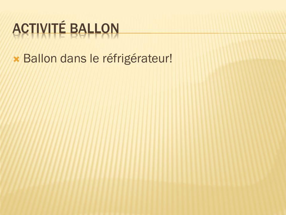 Activité Ballon Ballon dans le réfrigérateur!