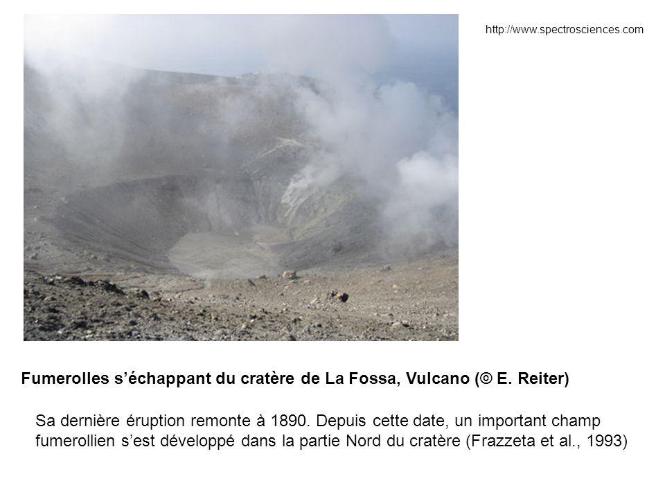 Fumerolles s'échappant du cratère de La Fossa, Vulcano (© E. Reiter)