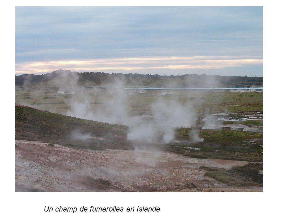 Un champ de fumerolles en Islande