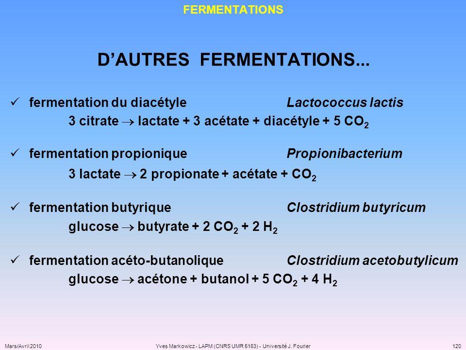 D'AUTRES FERMENTATIONS...
