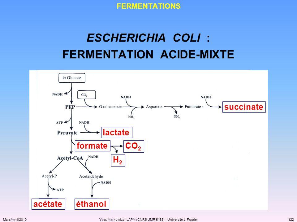 FERMENTATION ACIDE-MIXTE