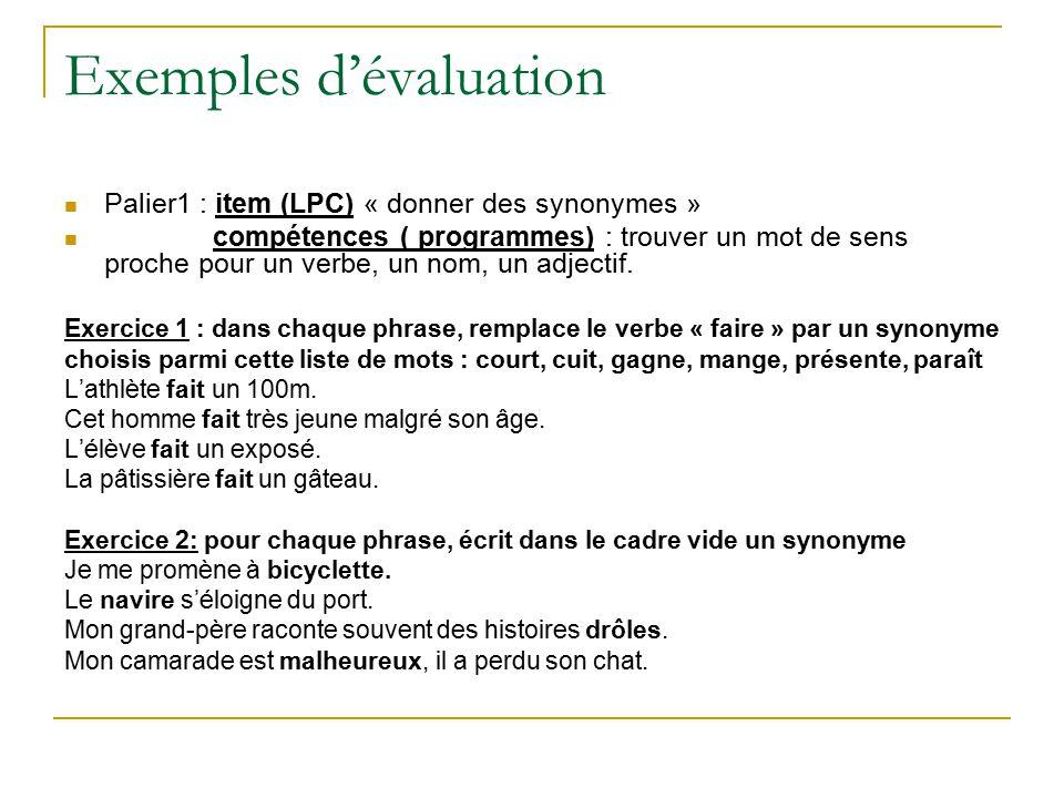 Evaluation validation des comp tences du socle ppt for A porter du regard synonyme