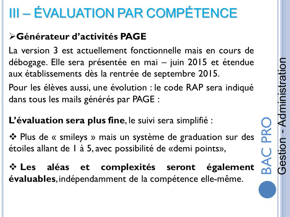 bac pro gestion - administration