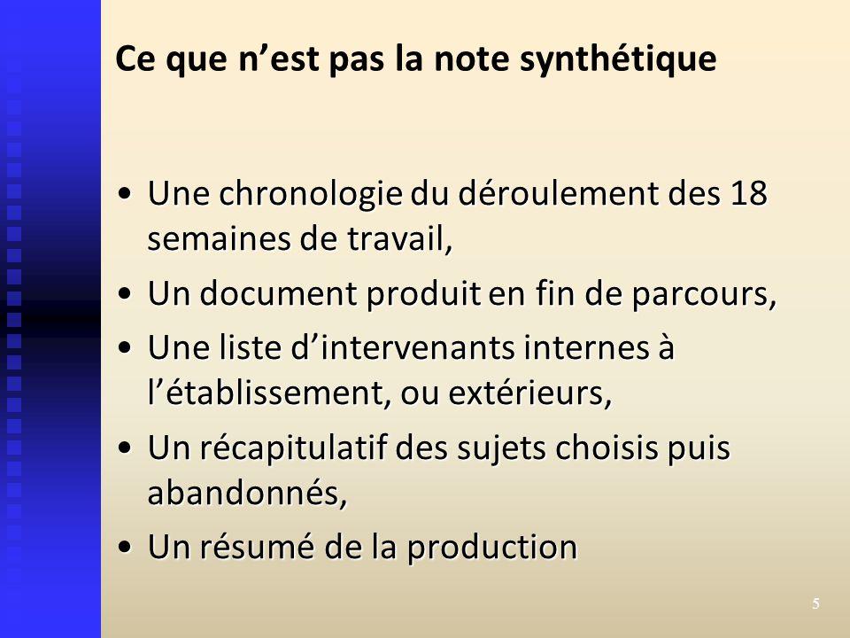 tpe harmonisation la note synth u00e9tique